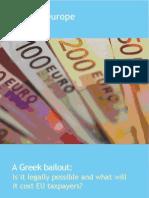 """Cenários para um """"bail-out"""" da Grécia"""