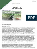 Taking Stock of WikiLeaks - STRATFOR
