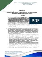 COMUNICADO REPROGRAMACION DE TOMA DE TIEMPOS 2020