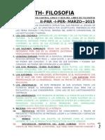UTH - FILOSOFIA - GUIA II PAR -I PER -MARZO 2015