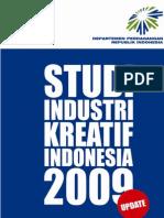 Pemutakhiran Pemetaan Industri Kreatif Indonesia Tahun 2009