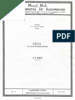 Aria - J. S. Bach - Alto Saxophone.pdf