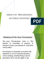 IMPACT of  PRIVATISATION aaa ppt