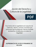 Noción del Derecho y Cultura de la Legalidad