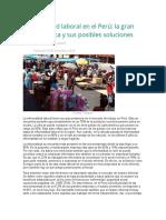 Informalidad laboral en el Perú