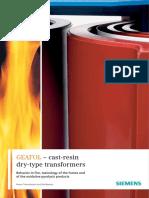 Siemens - Geafol cast-resin, Behavior in Fire