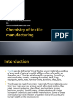 chemistry of textile manufacturing