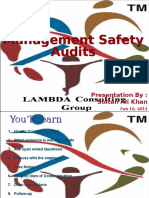 Management Safety Audits
