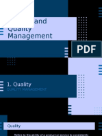 quality control and quality management