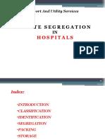 Waste Segregation in Hospitals