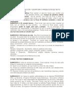 EJERCICIOS DE REDACCIOìN Y ESCRITURA O PRODUCCIOìN DE TEXTO
