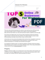 Adstargets.com-Top 5 Online Businesses for Women