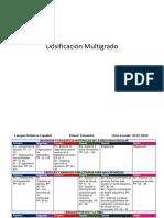 Dosificación Multigrado