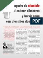INGESTA DE ALUMINIO AL COCINAR