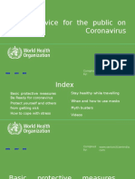 WHO's Advice for the Public on (Covid-19) Coronavirus