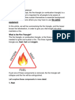 Fire Triangle ,Flash & Fire Point , LEL & UEL