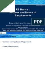 SEG3101-Ch1-1 - Basics - Purpose and Nature of Requirements