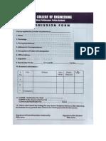 Admission Form2009