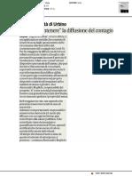 Università di Urbino, app per contenere il contagio - Il Corriere Adriatico del 20 marzo 2020