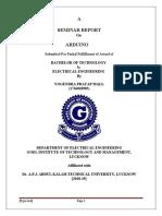 seminar report on ardunio