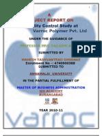 Varroc Final Report