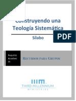 1. Sílabo, Construyendo una Teología Sistemática