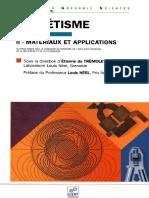 Magnétisme II - Matériaux Et Applications - E. Du Tremolet de Lacheisserie Et Al