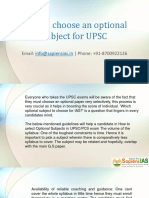 How to Choose an Optional Subject for UPSC-1