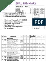 Progress Report upto  03-2020 (Final)