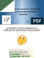 Gestión de las emociones, manejo del estrés