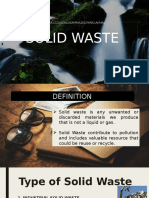 Solid and Chemical waste