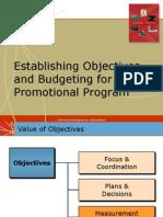 Establishing Objectives n Budgeting