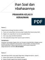 Latihan Soal dan Pembahasan Tema Kerajinan Fungsi Hias