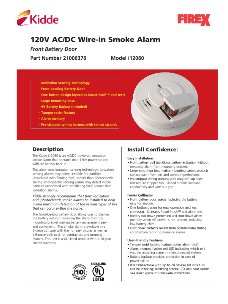 Smoke Detector Manual Electrical Components Electric Power Firex Alarm Wiring Diagram On Kidde