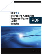 SAS 9.2 Interface to Application Response Measurement (ARM)- Reference