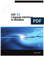 SAS 9.2 Language Interfaces to Metadata