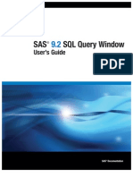 SAS 9.2 SQL Query Window- User's Guide