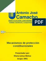 T3 Presentación sobre los mecanismos de protección de los derechos fundamentales.