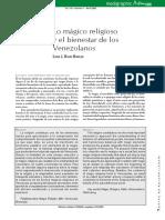 Lo Magico Religioso y el Bienestar de los Venezolanos