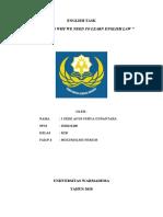ENGLISH TASK (SURYA GUNANTARA, K2B)