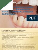Examinarea pacientului cu boala parodontala