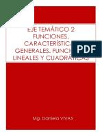 EJE TEMÁTICO 2 - FUNCIONES - FUNCIÓN LINEAL - CUADRÁTICA