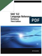 Base SAS 9.2 Language Reference Dictonary Third Edition