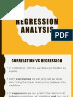 W11 regression analysis