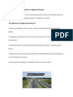 planning of a highway project
