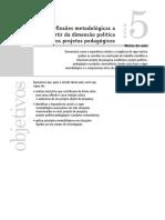 Aula 05 - Reflexões metodológicas a partir da dimensão política dos projetos pedagógicos