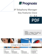 PROGNOSIS IP Telephony Manager Key Features with CUCM Appliances v2_0