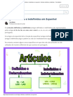 Artigos Definidos e Indefinidos em espanhol – Artículos definidos y indefinidos - Toda Matéria