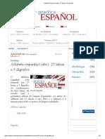 Alfabeto espanhol (abc)_ 27 letras e 5 dígrafos