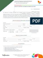 Solicitud de Registro (Estancias)